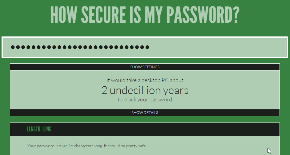 How safe are your passwords